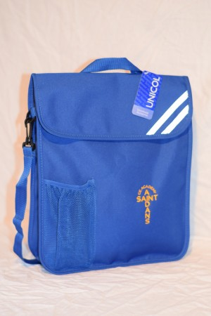 St Aidan's Academy Embroidered Portrait Book Bag with bottle holder and shoulder strap (Including Academy logo)