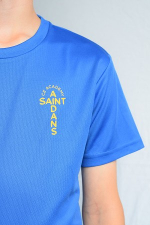 St Aidans Lightweight PE T-shirt with logo