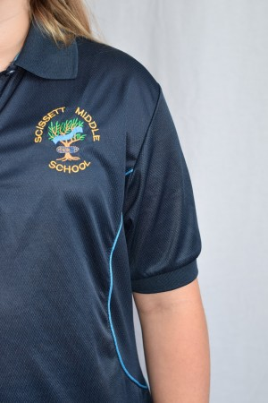 Scissett Middle School Sports Polo Shirt (Girls)