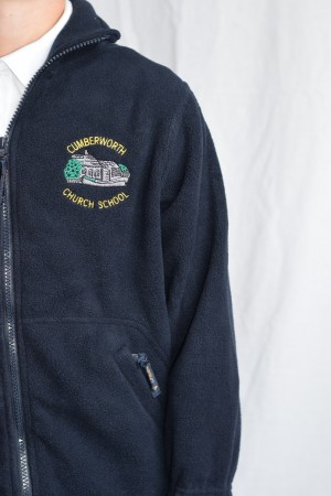Cumberworth First School Zip Fleece (Including school logo)