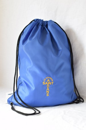 St Aidan's Academy PE/Gym bag Blue (including academy logo)