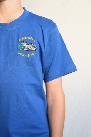 Cumberworth First School Royal blue PE t-shirt (Including School logo)