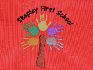 Shepley First School PE/Gym bag Red (including school logo)