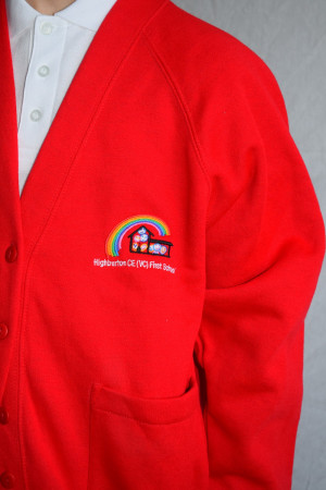 Highburton First School Cardigan (Including School logo) Zeco Brand