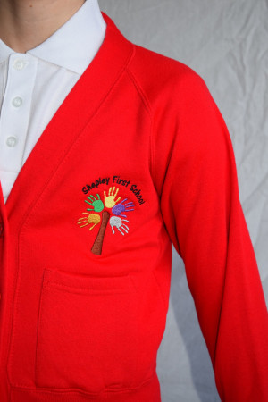 Shepley First School Cardigan (including school logo) Zeco Brand