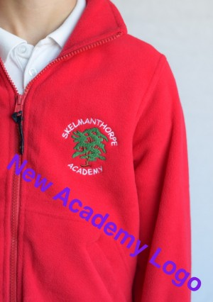 Skelmanthorpe Academy Red Zip Fleece (Including Academy logo)