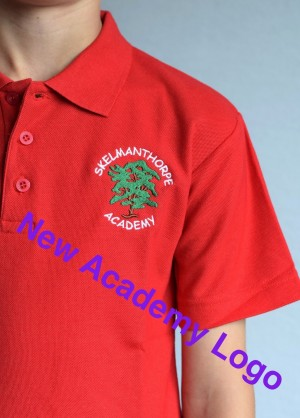 Skelmanthorpe Academy Polo Shirt Red (Including Academy logo)
