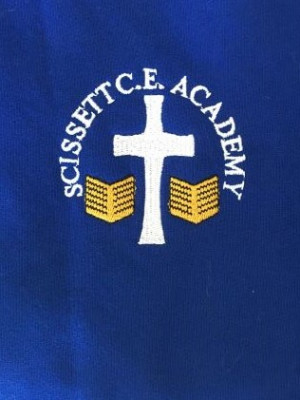 Scissett C.E. Academy Royal Blue Crew Neck Sweatshirt Jumper (Including Academy logo) Zeco Brand