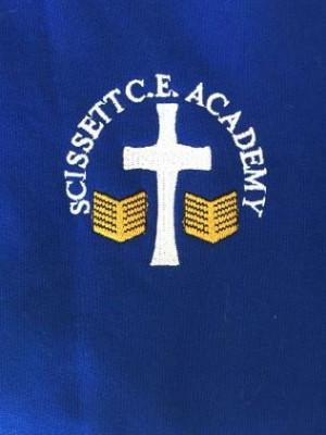 Scissett C.E. Academy PE/Gym bag Blue (including academy logo)