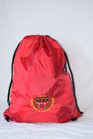 Kayes First & Nursery School PE/Gym bag Red (including School logo)