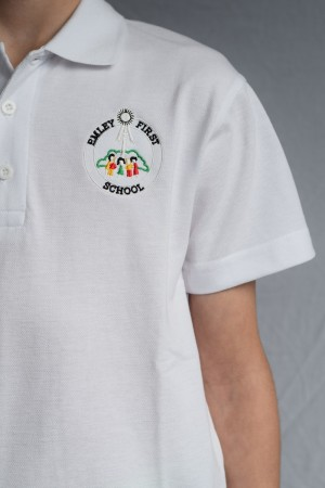 Emley First School Polo Shirt White (Including School logo)