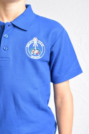 Emley First School Polo Shirt Royal Blue (Including School logo)