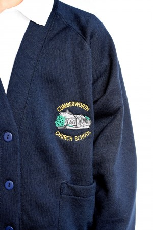 Cumberworth First School Cardigan (Including School logo) Zeco Brand