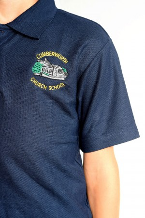 Cumberworth First School Polo Shirt Navy (Including School logo)