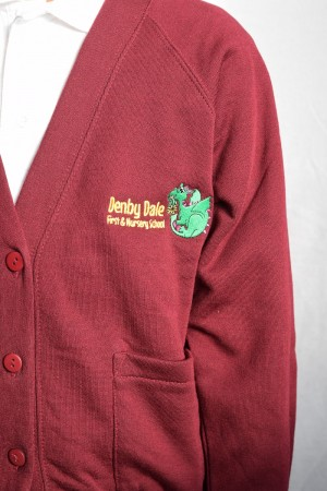 Denby Dale First & Nursery School Cardigan (Including School logo)