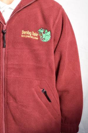 Denby Dale First & Nursery School Zip Fleece (Including School logo)