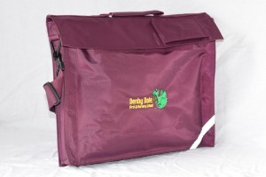 Denby Dale First & Nursery School embroidered Book Bag with Strap (Including school logo)