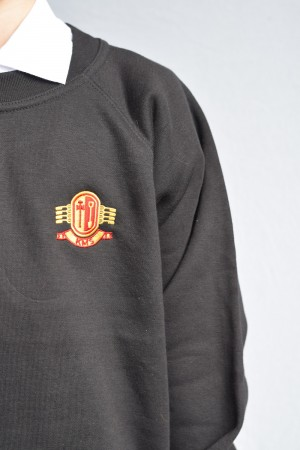 Kirkburton Middle School KMS Black Crew Neck Sweatshirt Jumper with School Logo