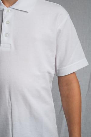 Sciseet C.E. Academy School Polo Shirt White