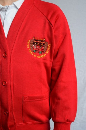 Kayes First & Nursery School Cardigan (Including School logo) Zeco Brand