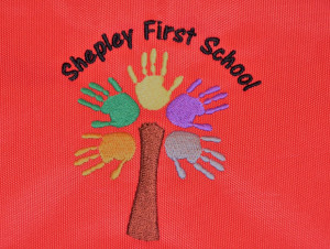 Shepley First School Embroidered Book Bag with Strap (Including school logo)