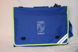Denby C of E fIRST School Embroidered Hi-Viz Document Case with shoulder strap (Including logo)