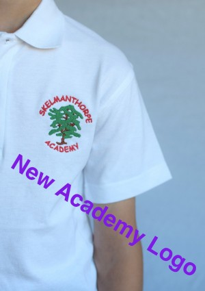 Skelmanthorpe Academy Polo Shirt White (Including Academy logo)