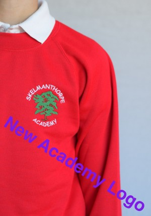 Skelmanthorpe Academy Red Crew Neck Sweatshirt Jumper (Including Academy logo) Zeco Brand