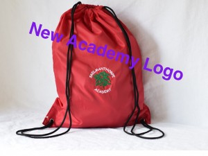 Skelmanthorpe Academy PE/Gym bag Red (including academy logo)