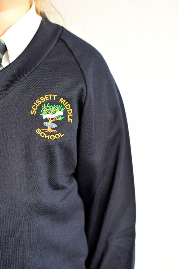 Navy V Neck Sweater