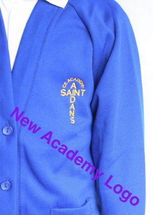 St Aidan's Academy Cardigan (Including Academy logo) Zeco Brand
